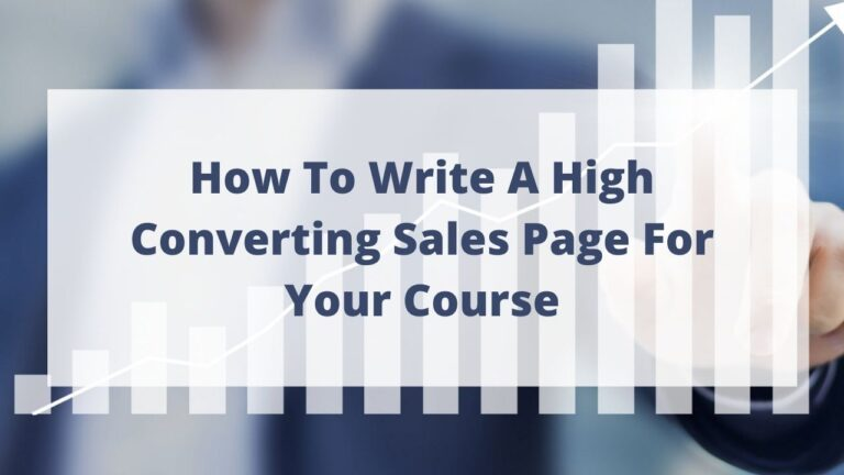 How to write a high converting sales page for your course